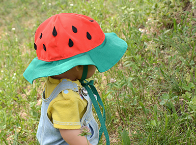 Otroško pokrivalo - lubenica