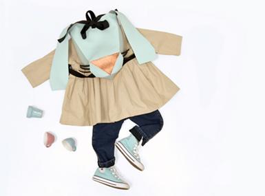 Otroški nahrbtnik geometrijski zajec