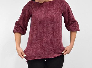 Zero waste pulover
