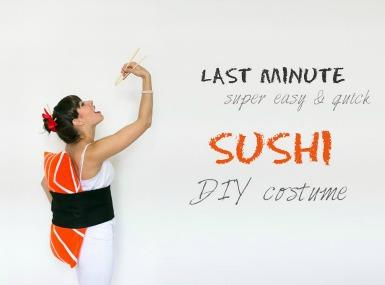 Pustni kostum: sushi