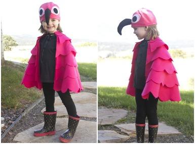 Pustni kostum - Roza Flamingo