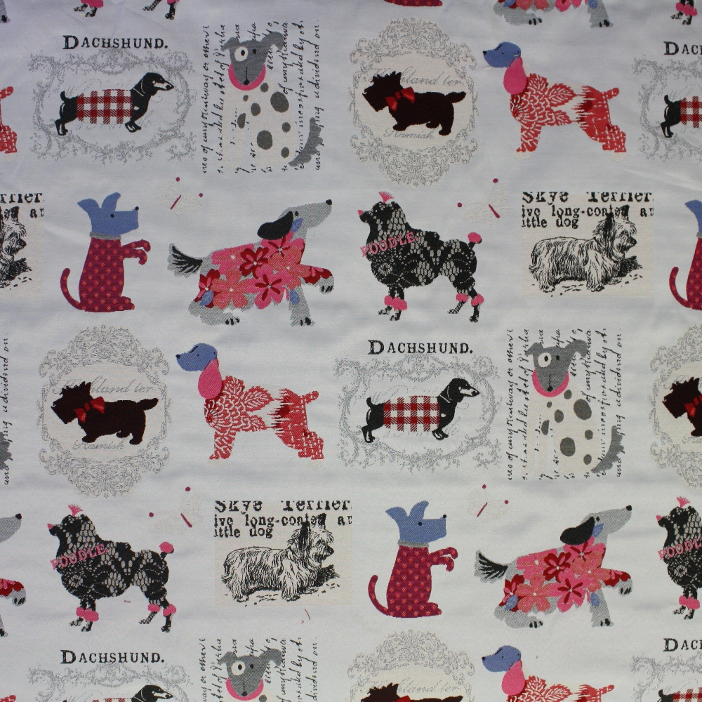 Deco jacquard, dogs, breed, 13701-0201