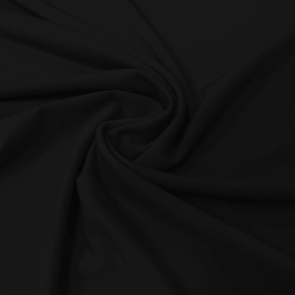 Gewebe, Polyester, dünn, 010_13460, schwarz