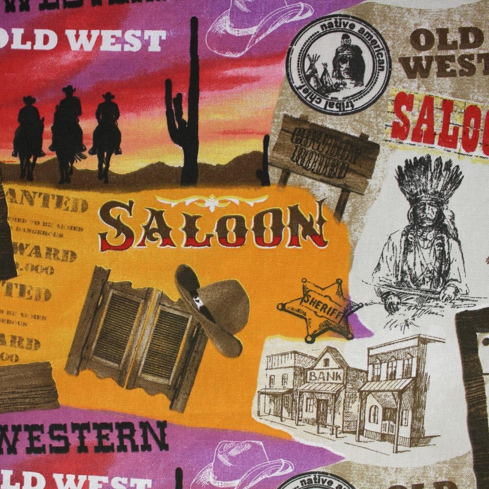Deco, print, cowboy, 13798