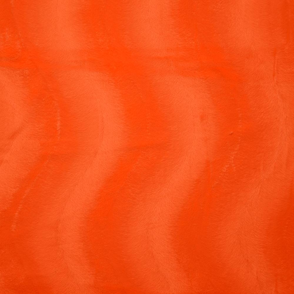 Poliester, kosmaten, 13934-01, oranžna