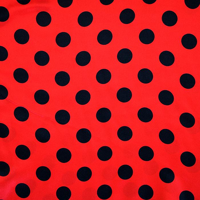 Satin, polyester, dots, 13924-01