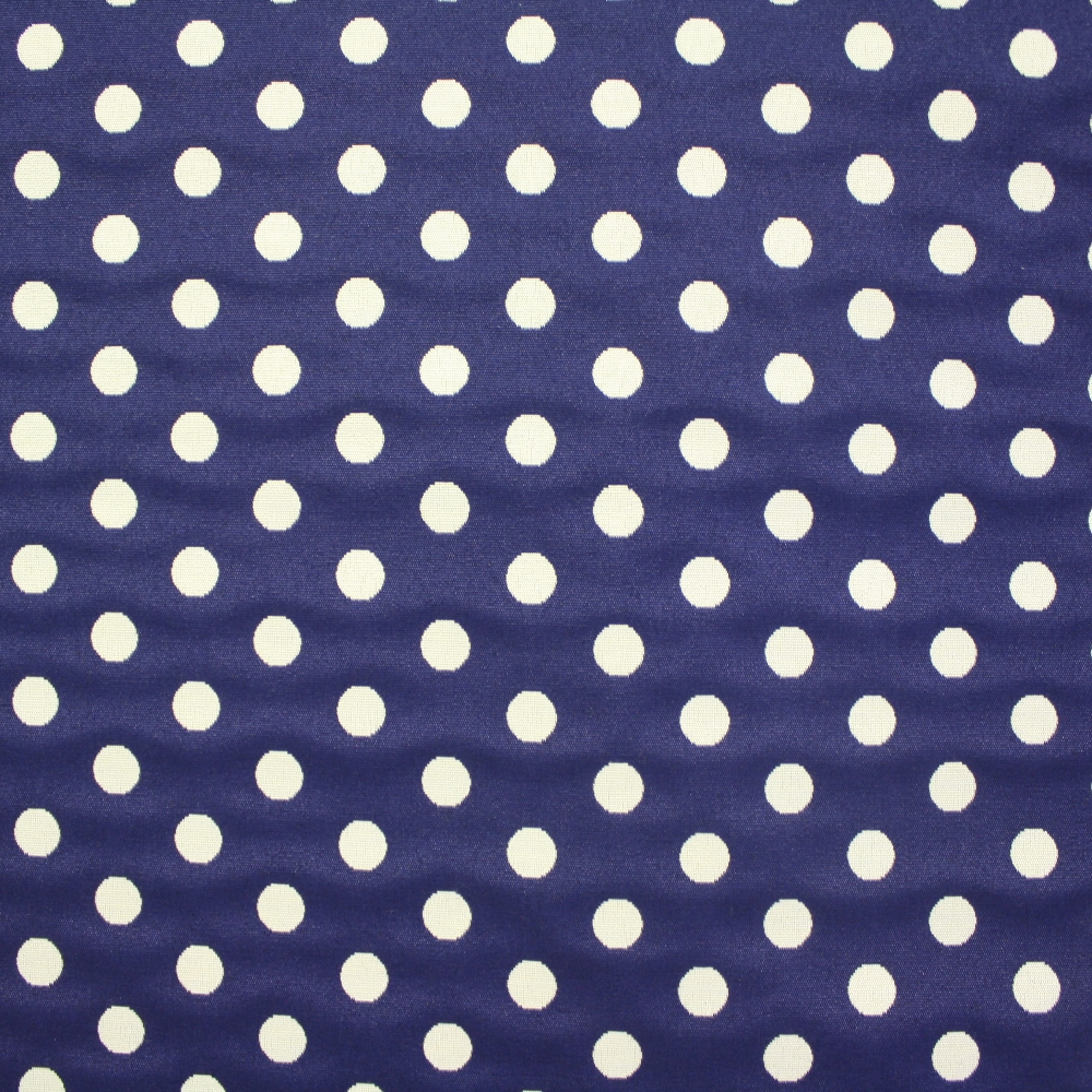 Deco jacquard, blue dots, 13957-1