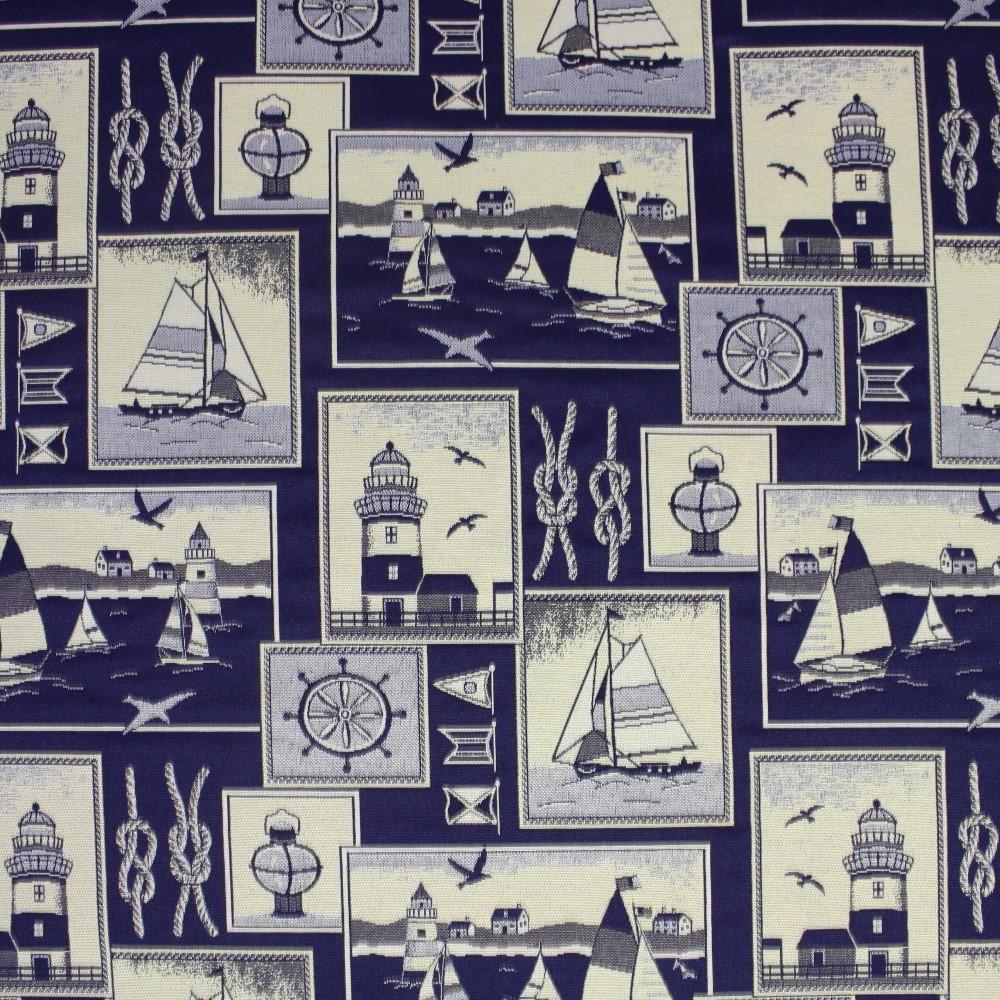 Deko žakard, morski, 13966-1