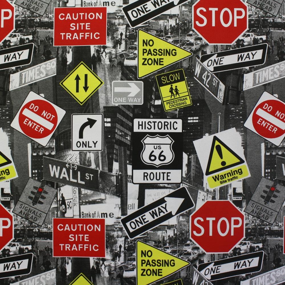 Deco, print, traffic signs, 14259