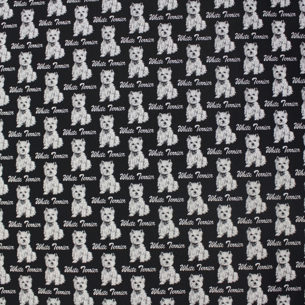 Deco jacquard, dogs, terrier, 14263