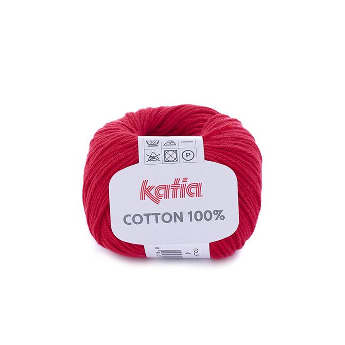 Yarn, 100% Cotton, 14733-4, red