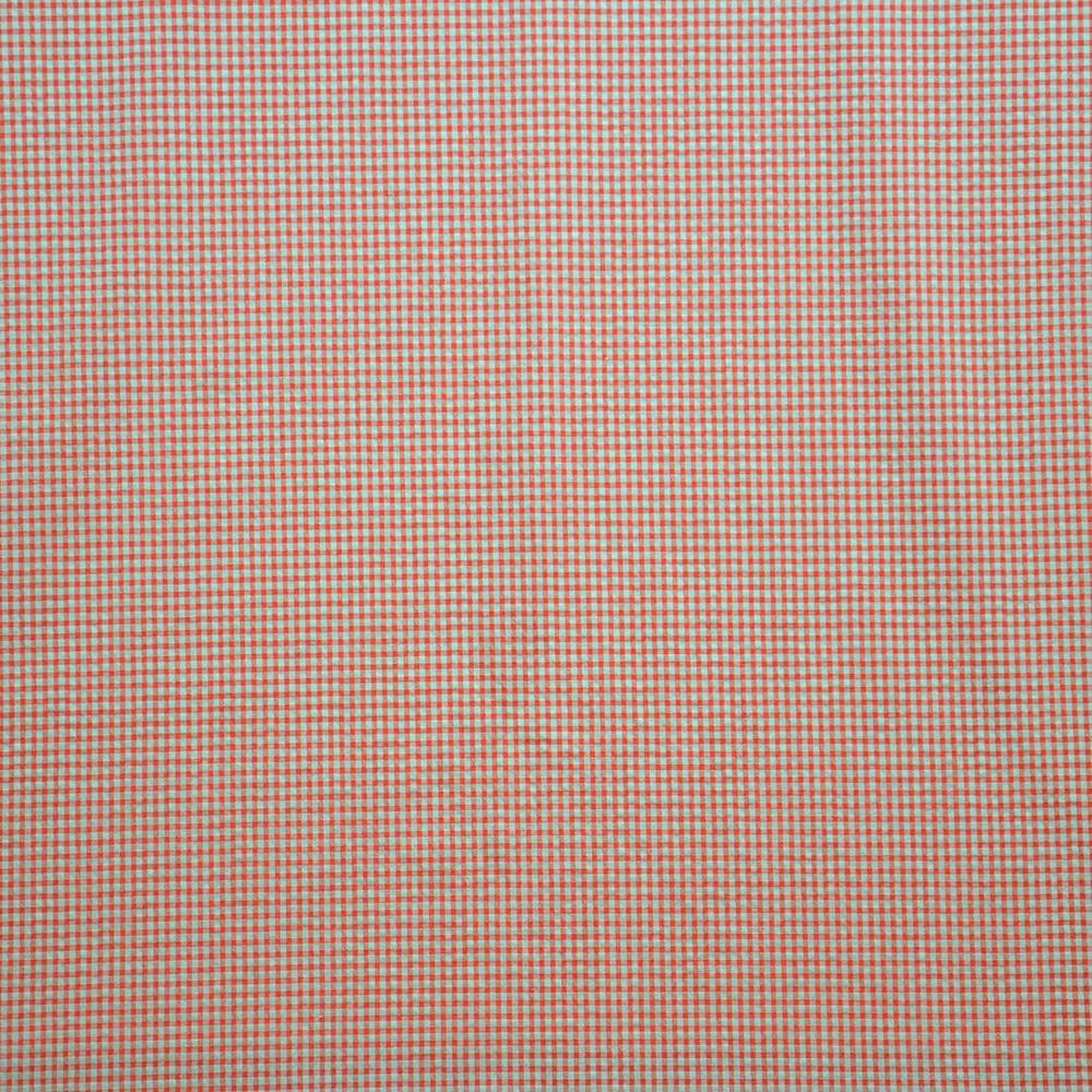 Tkanina, mečkanka, karo, 14182-15, oranžno bež