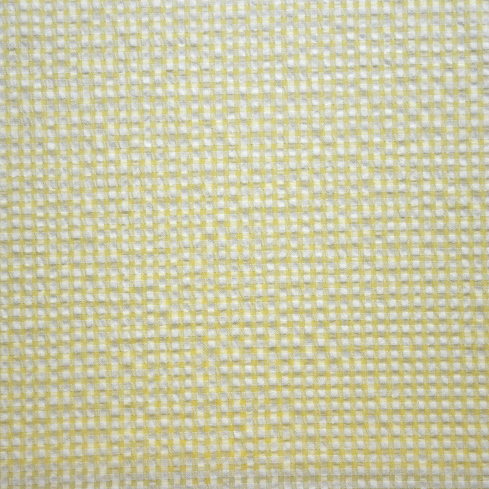 Tkanina, mečkanka, karo, 14182-17, rumena