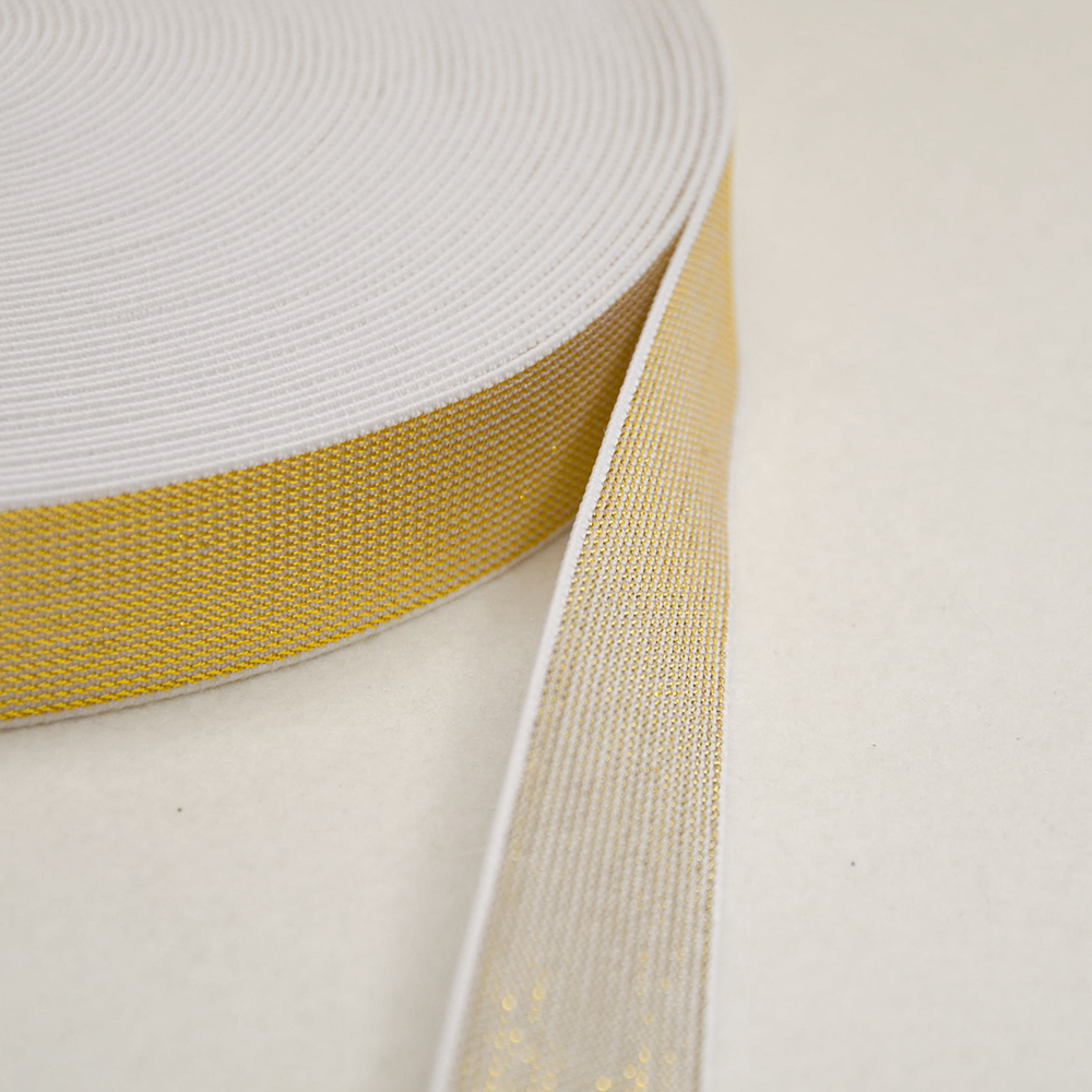 Elastic,  decorative, 25mm, gold, 00468-002