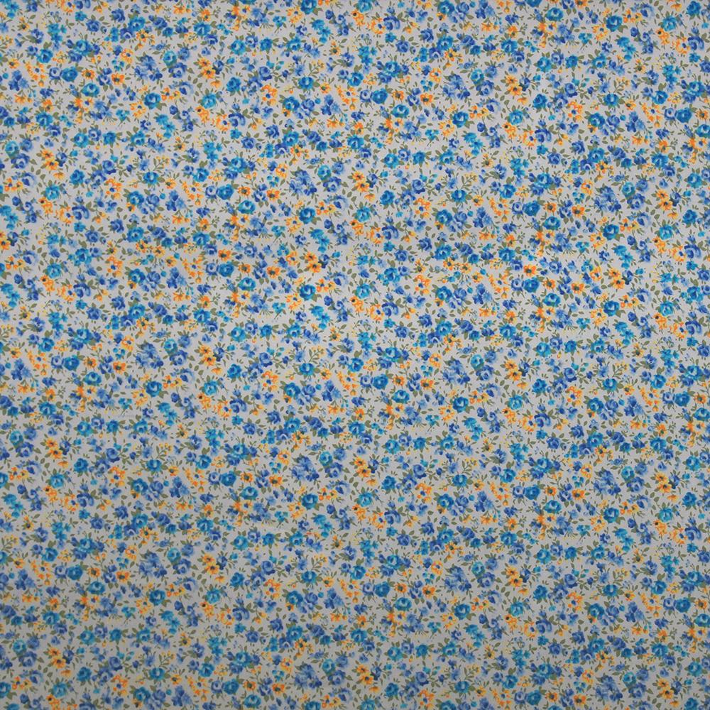 Cotton, poplin, floral, 10491