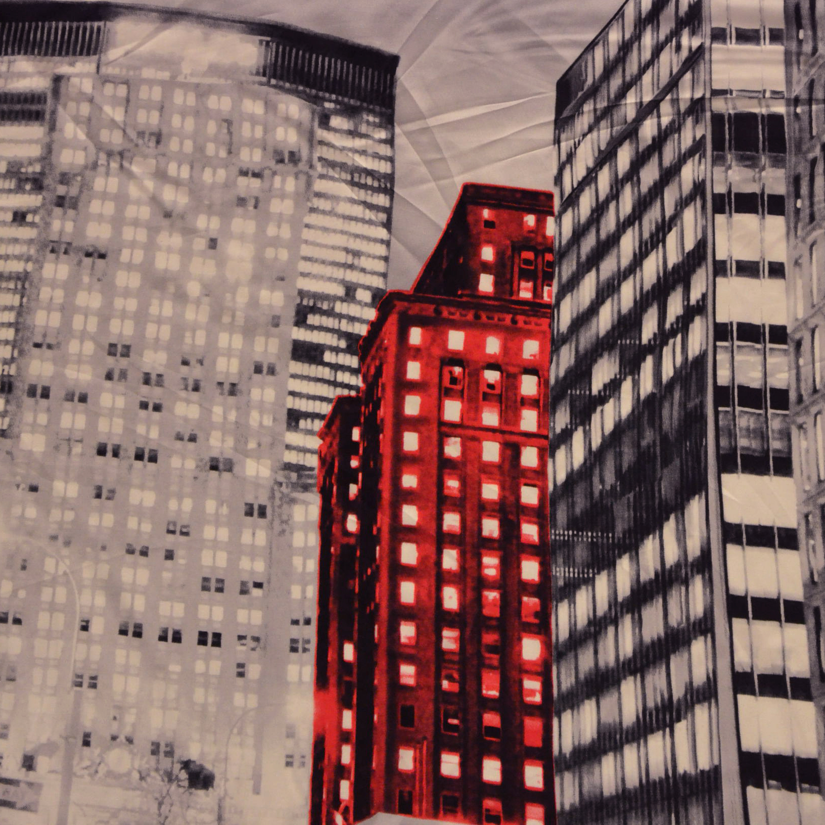 Fabric, viscose, city, 14087-1