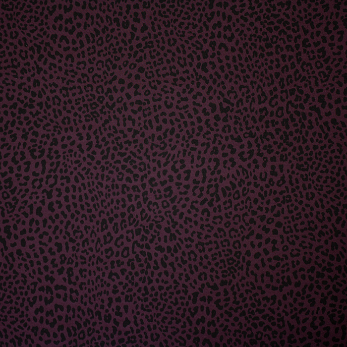 Bengalin, elastic fabric, animal, cheetah, 14895-2, eggplants