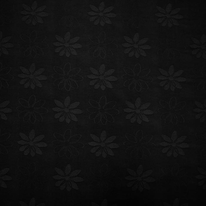 Dekostoff, Jacquard, Blumen, 11938, schwarz
