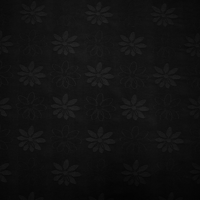 Deco jacquard, flowers, 11938, black