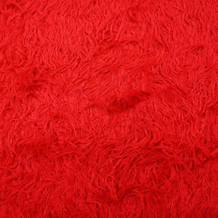 Krzno, umjetno, dugodlako, 3313-1, crvena