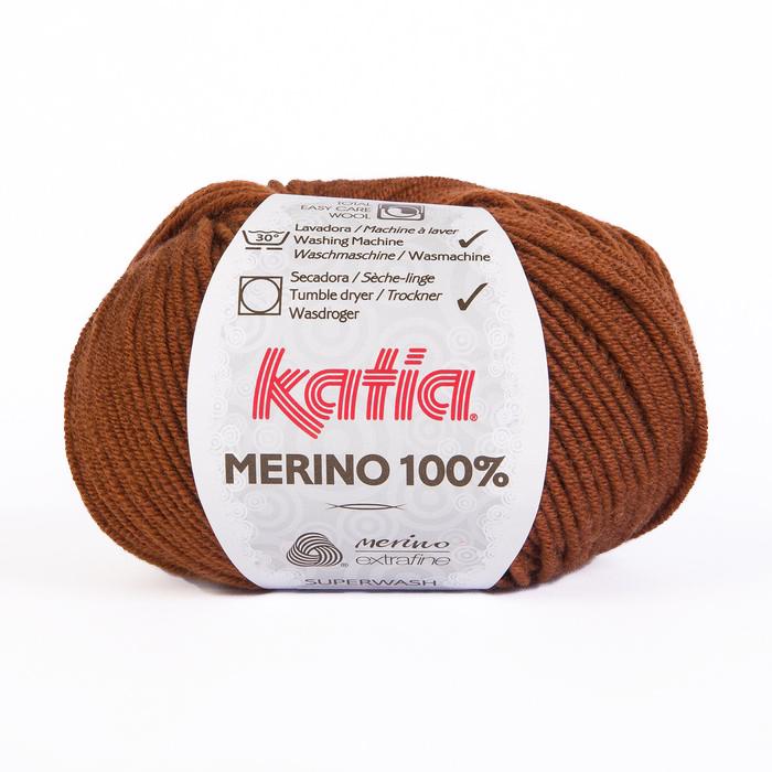 Vuna, Merino, 15034-61, smeđa