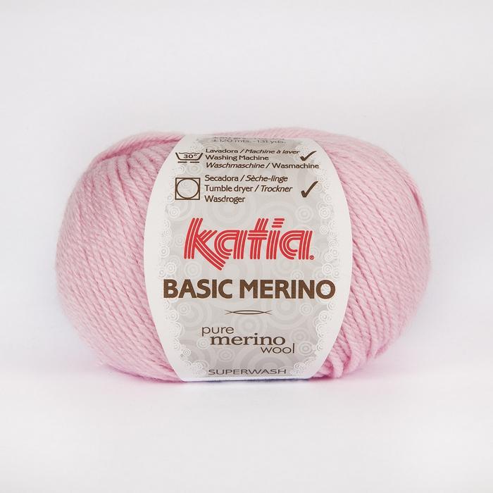Volna, Basic Merino, 15041-25, svetlo roza