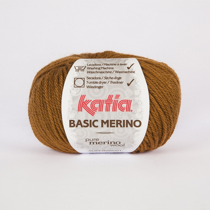 Vuna, Basic Merino, 15041-37, smeđa