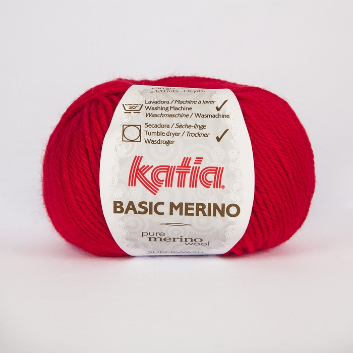 Volna, Basic Merino, 15041-4, rdeča