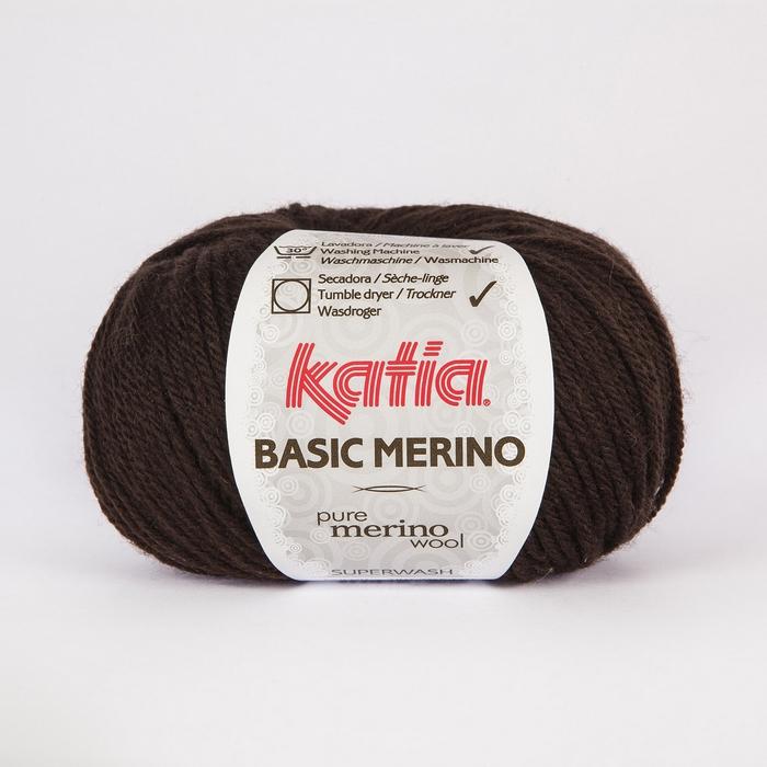 Volna, Basic Merino, 15041-7, temno rjava