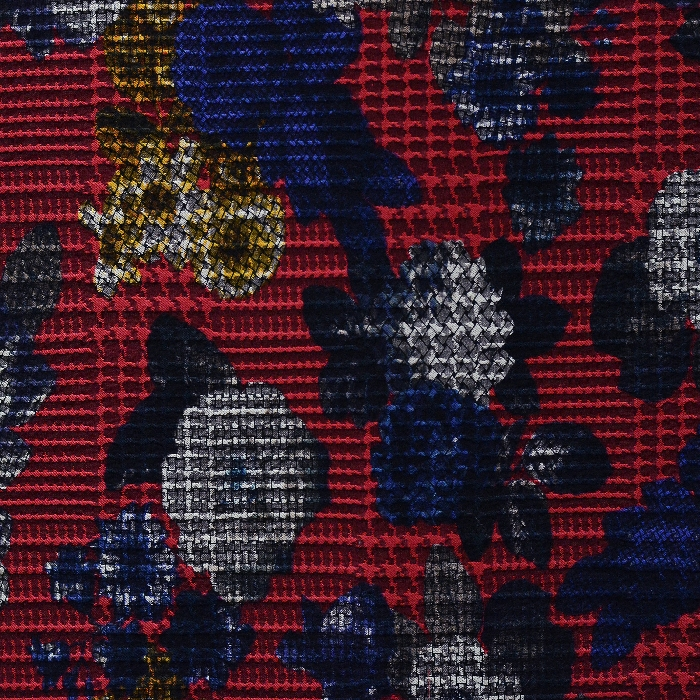 Bengalin, elastic fabric, floral, 15129-015