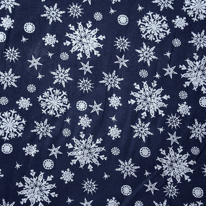 Cotton, poplin, snowflakes, 15154-008