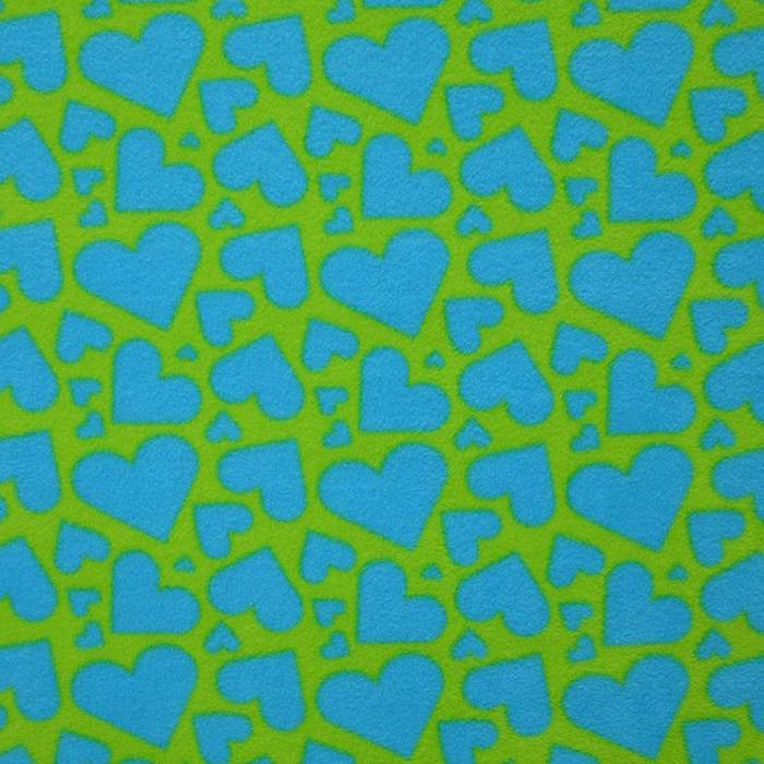 Velur, srčki turkizna, 15155-123