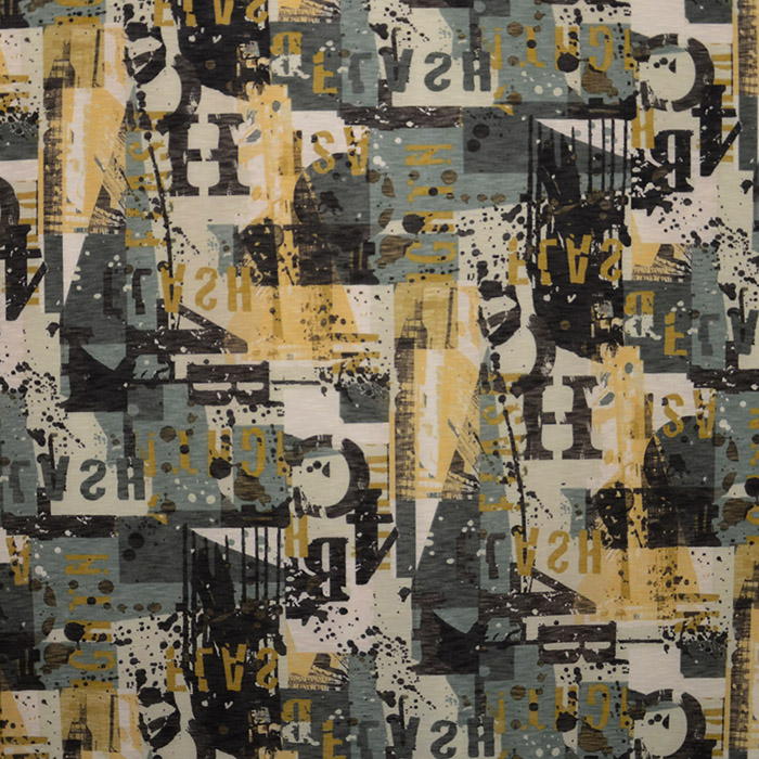 Knit, polyester, print, numbers 15008-2