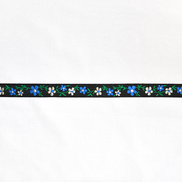 Band, Jacquard, floral, 00311-4