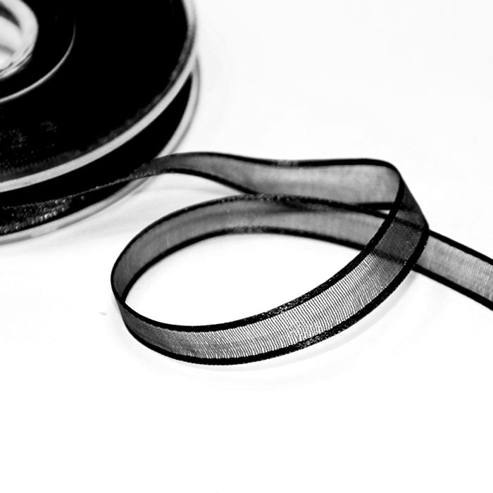 Traka, organdi, 10mm, 00251-008, crna