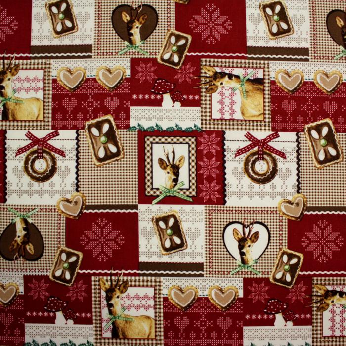 Bombaž, poplin, božični, 12613-03