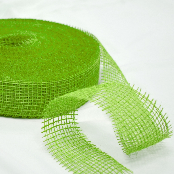 Jute, strip 5cm, 15429, green