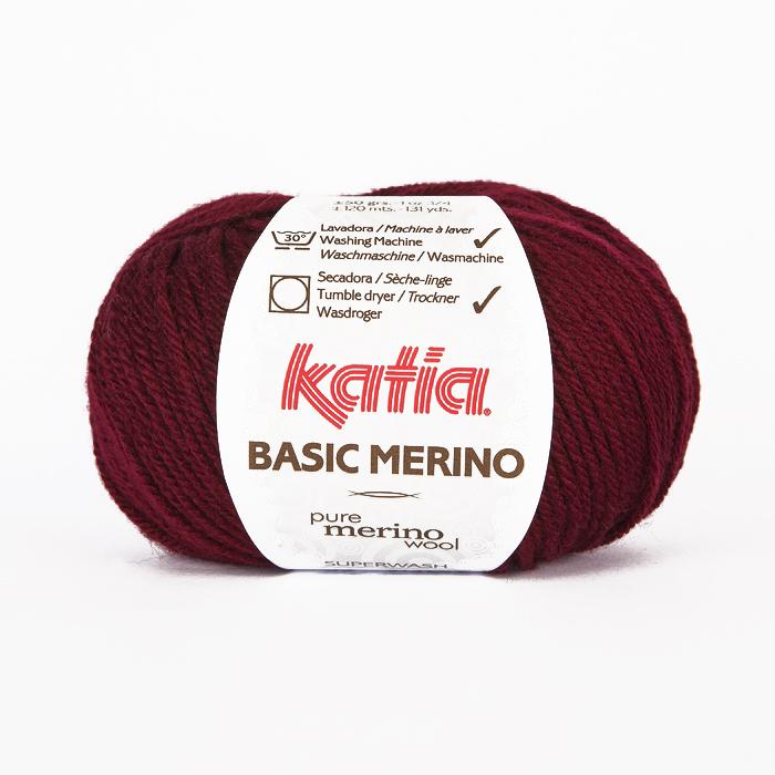Volna, Basic Merino, 15041-23, bordo