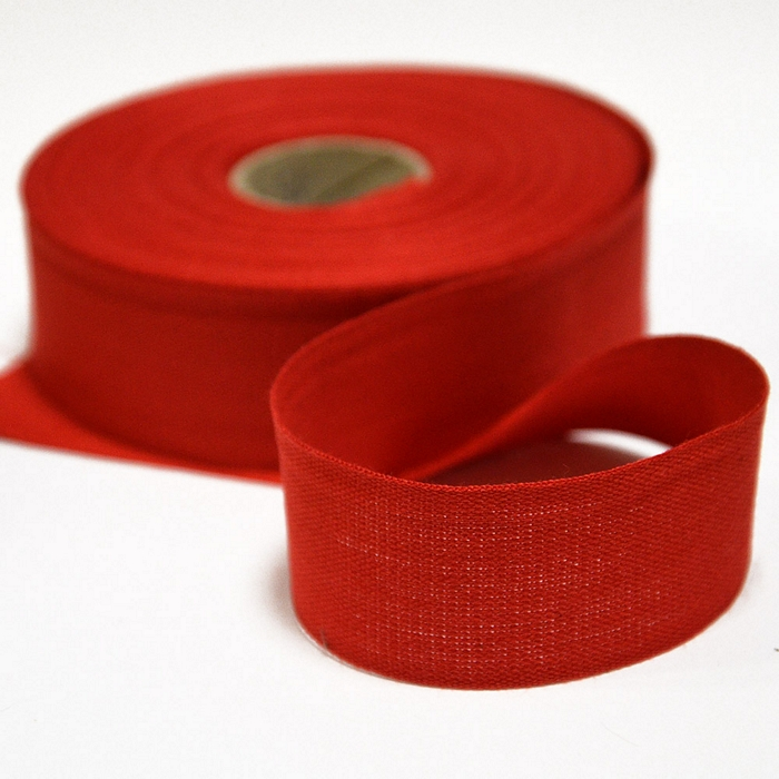 Cotton ribbon, 30mm, 15456-6230, red