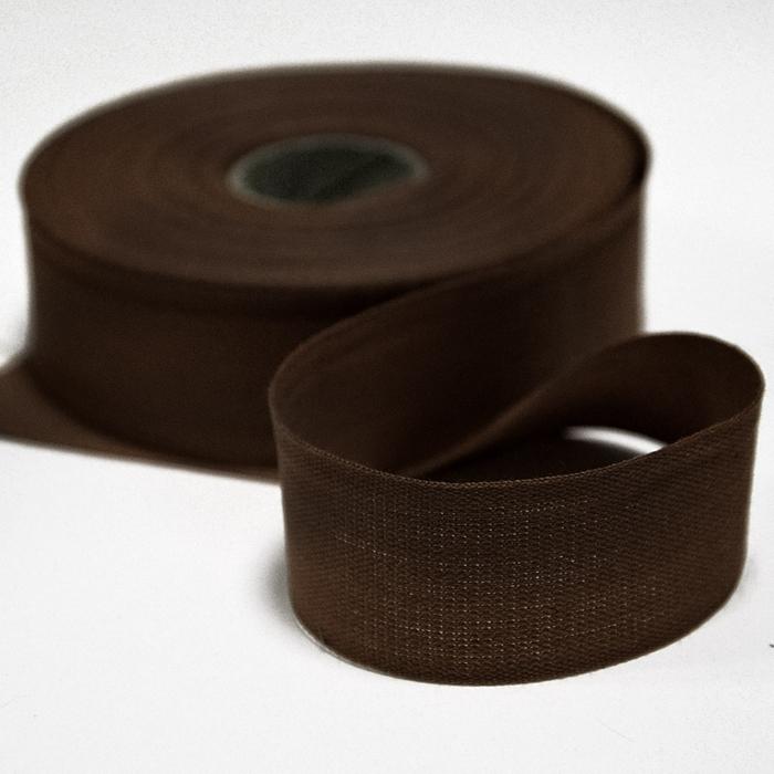Cotton ribbon, 30mm, 15456-6103, brown