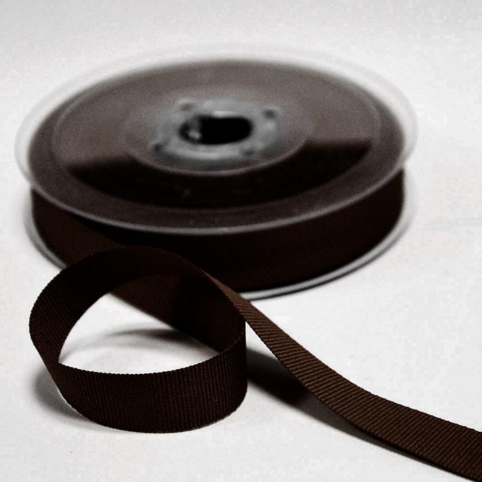 Rep ribbon, 15mm, 15457-1103, brown