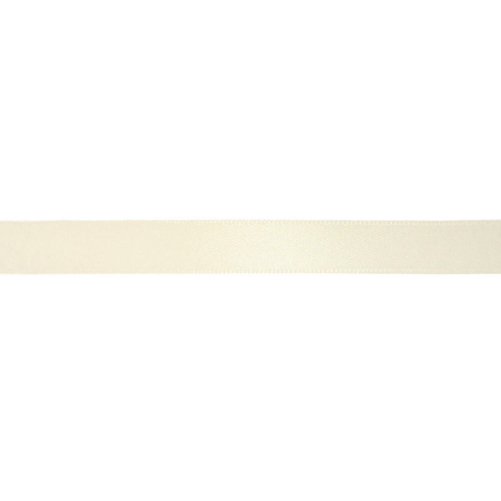 Satin ribbon, 10mm, 15458-1002, dirty white
