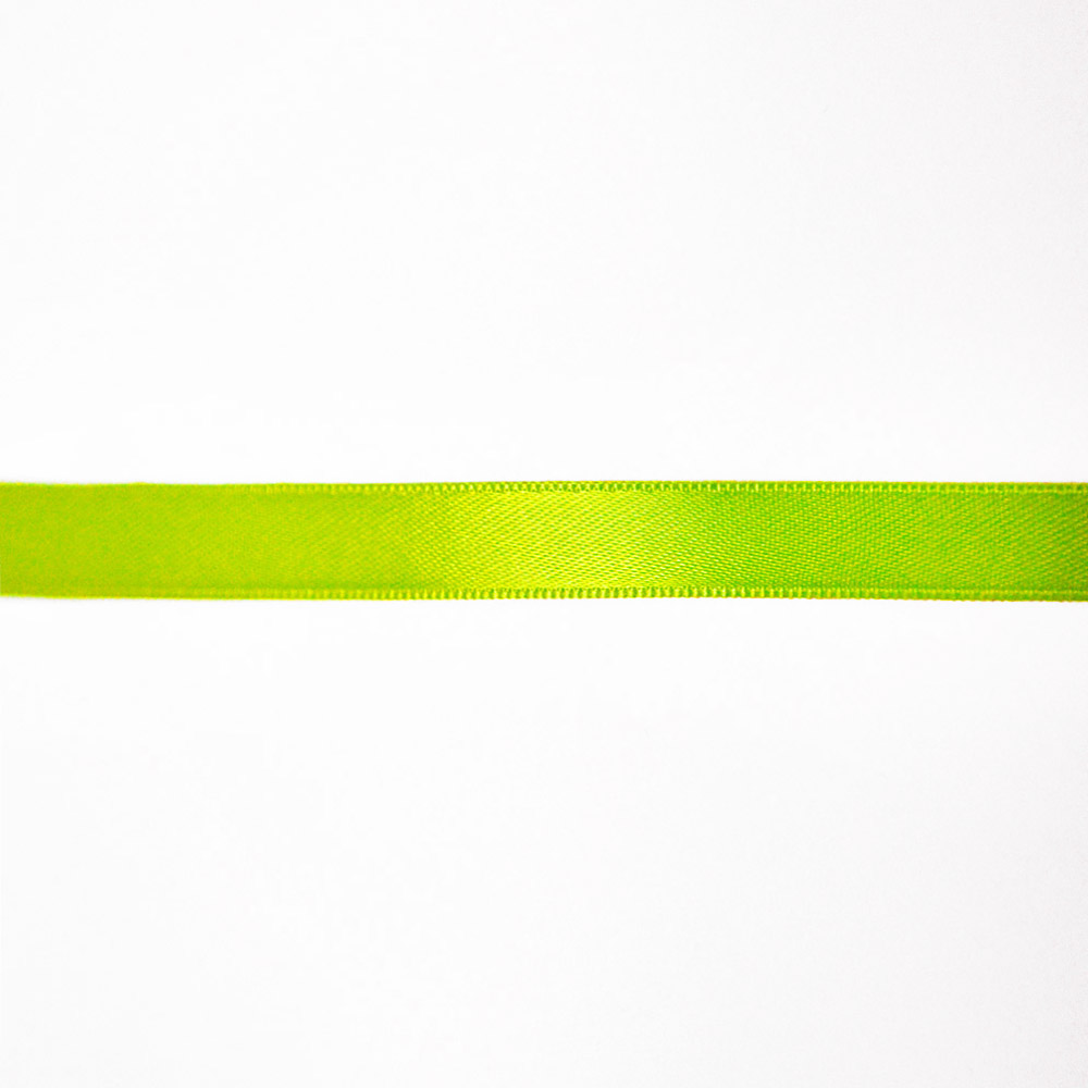 Satin ribbon, 10mm, 15458-2001, fluo yellow