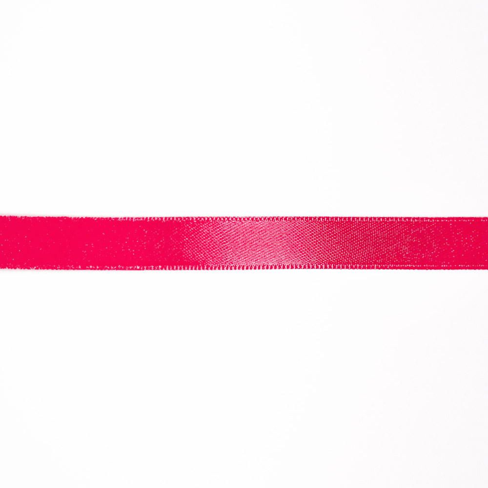 Satin ribbon, 10mm, 15458-2004, fluo pink