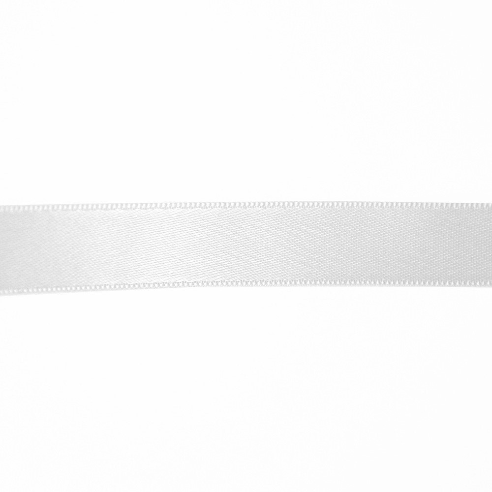 Satin ribbon, 15mm, 15459-1, white