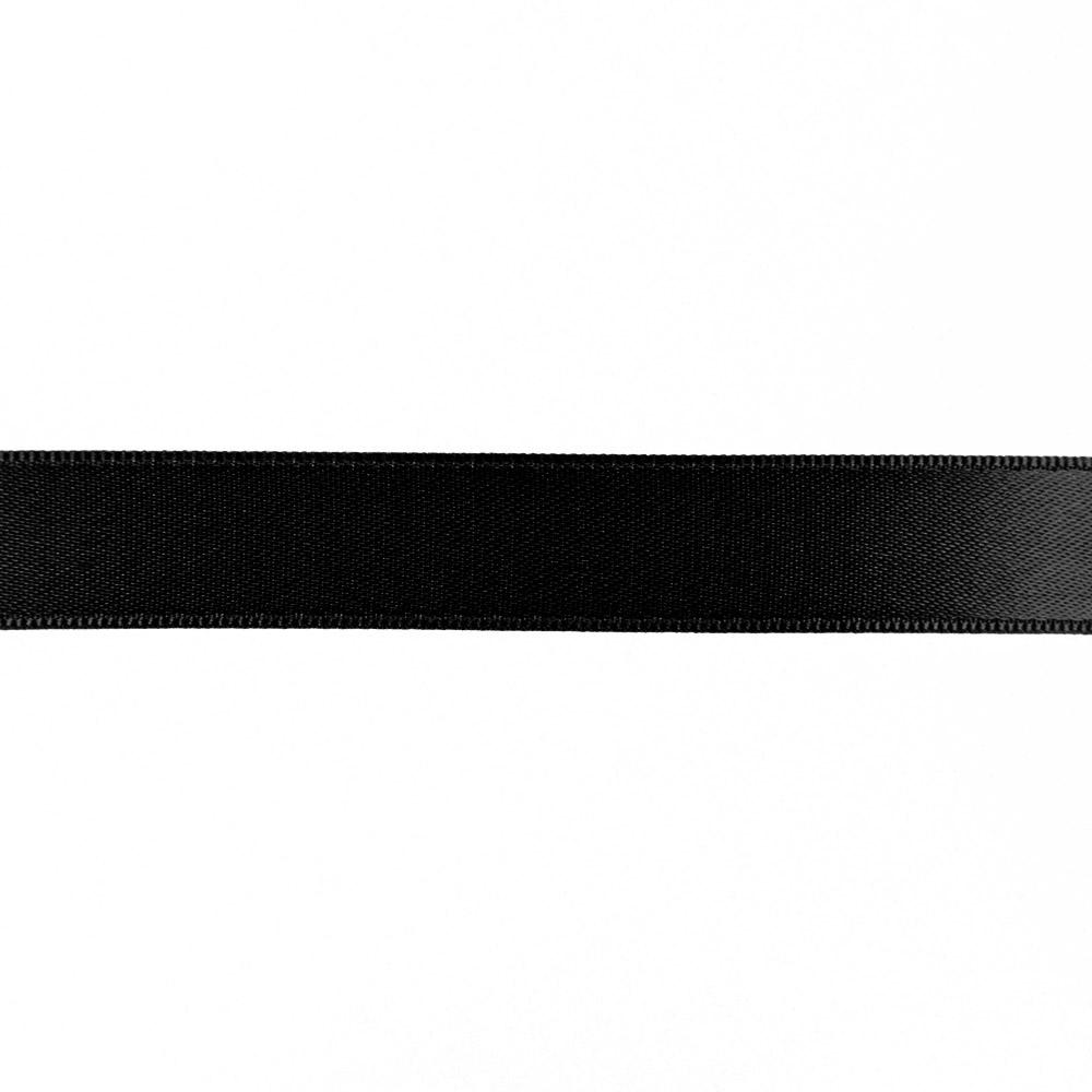 Satin ribbon, 15mm, 15459-2, black
