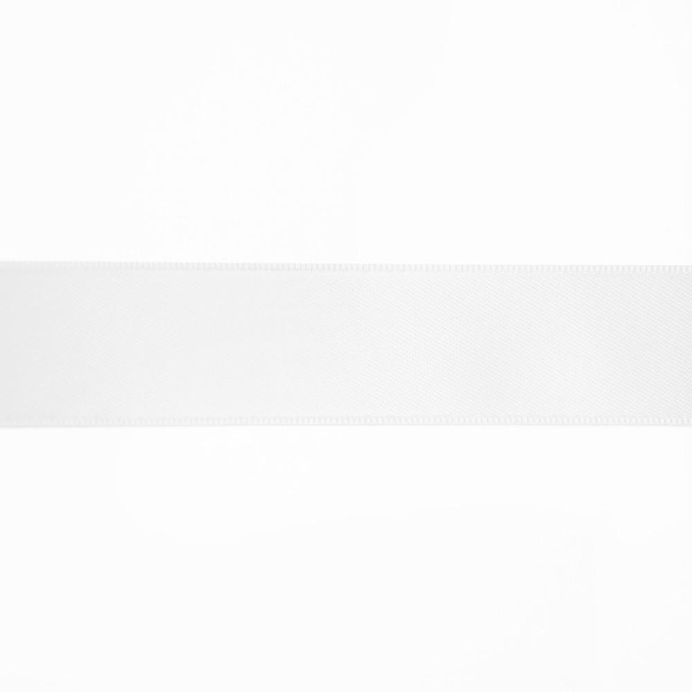 Satin ribbon, 25mm, 15460-1, white