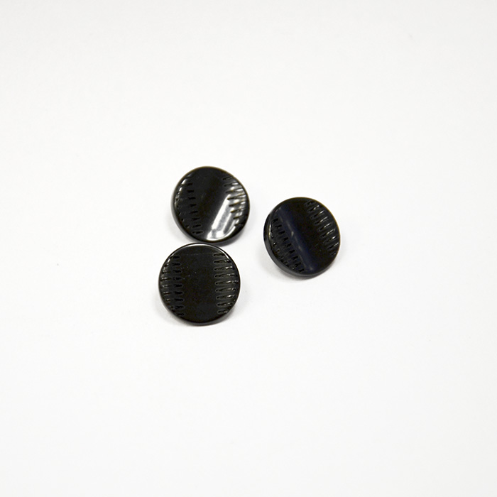 Button, for suits, black, 15435-3b