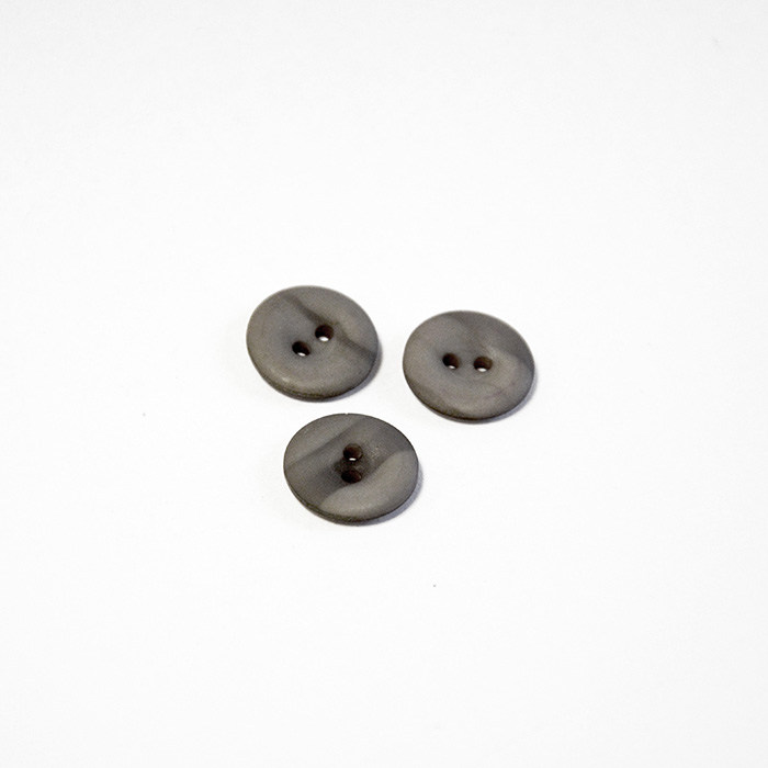Button, for suits, grey, 14 mm, 15502-1E