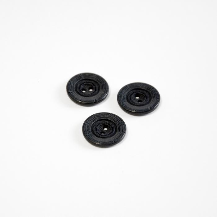 Gumb, kostimski, paukova mreža, crna, 18 mm, 15506-1F